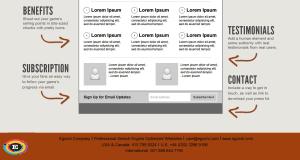 Egochi landing page sample