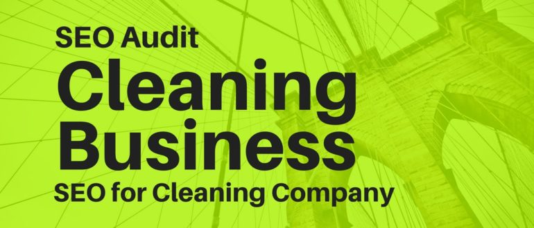 SEO for Cleaning Company