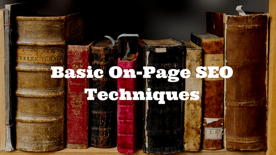 Basic On-Page SEO Techniques