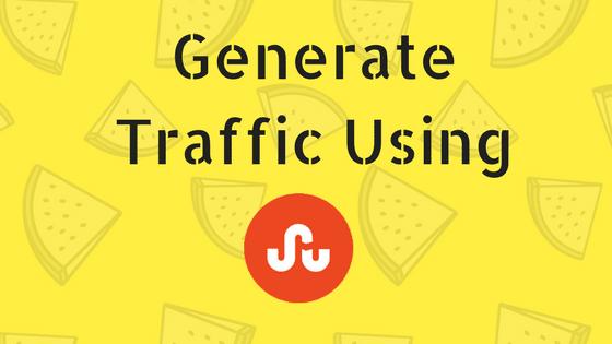 Generate Traffic Using StumbleUpon