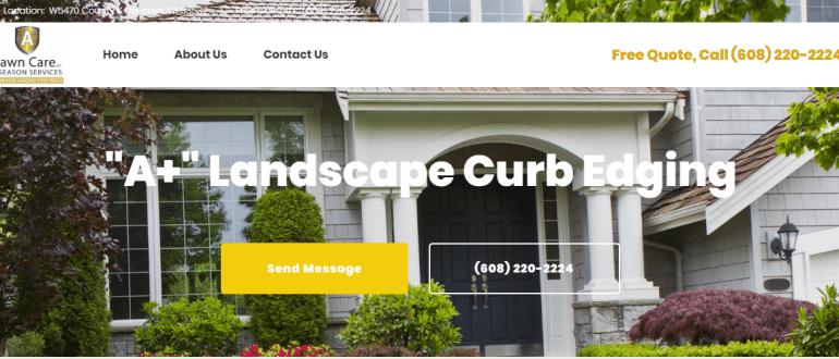 A+ Lawn Care Web Design Portfolio