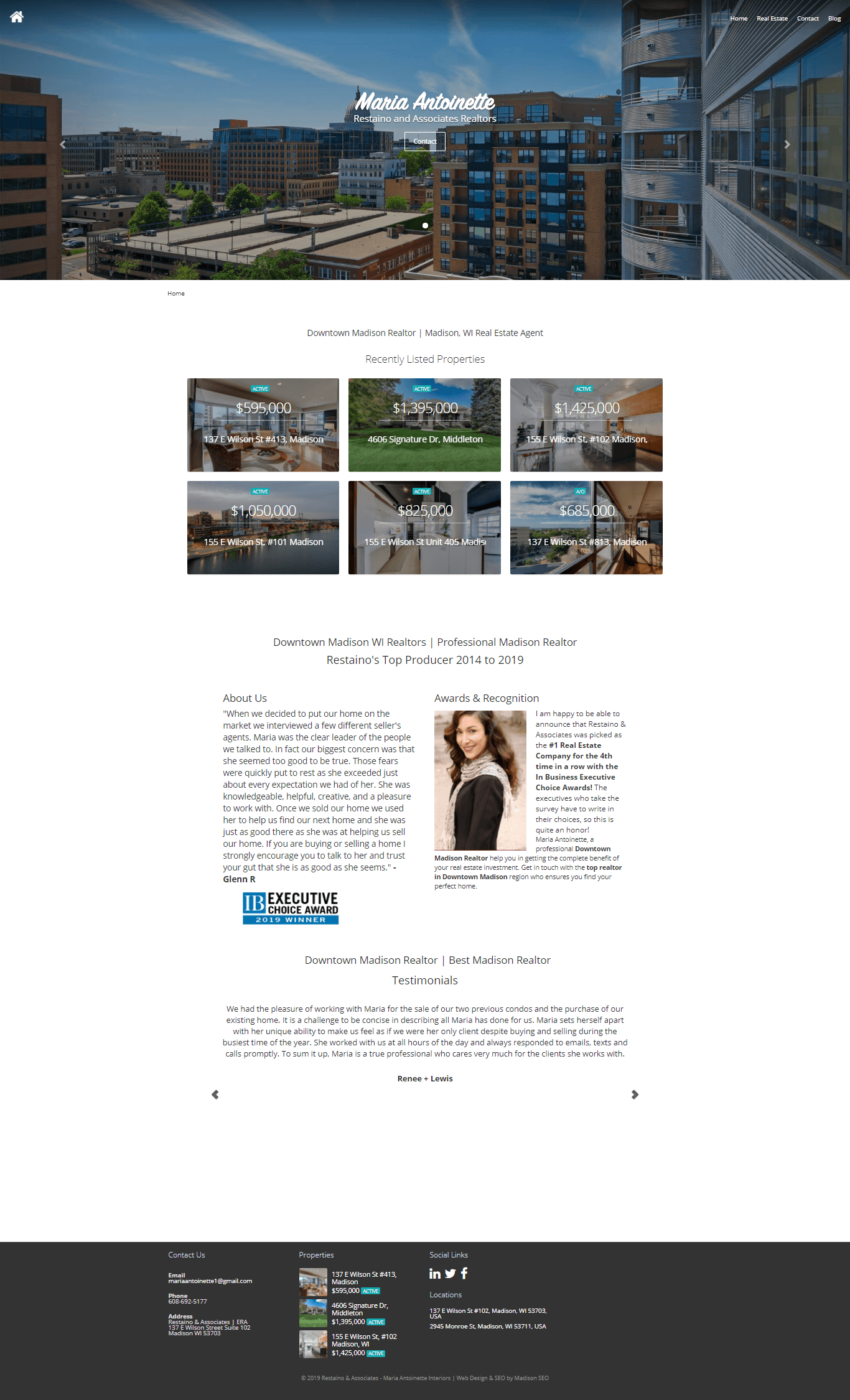 small business web design portfolio sample 4